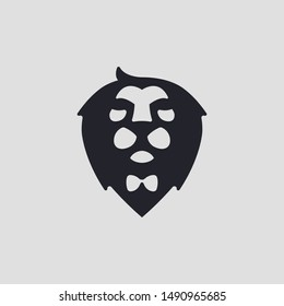 Lion and Tie Logo Concept. Artsy, Professional and Clean Logo. Suitable for all types of business.