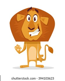 Lion. Vector cartoon flat illustration