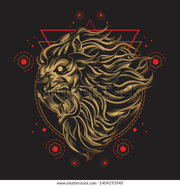 Lion Vector Commercial Use Stock Vector (Royalty Free