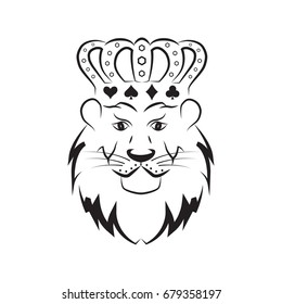 Lion vector with crown