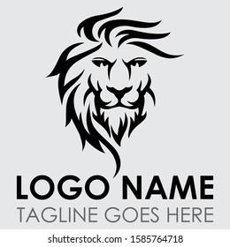 Lion vector logo illustration | emblem design on white background |
