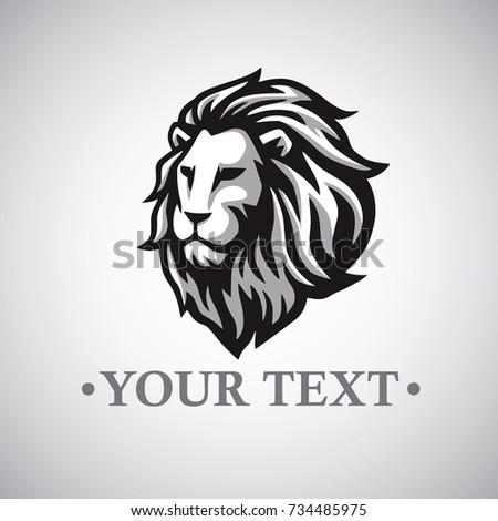 Logo Template | Lion Vector Logo Template Stock Vektorgrafik Lizenzfrei 734485975