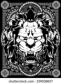 Lion vector Pattern