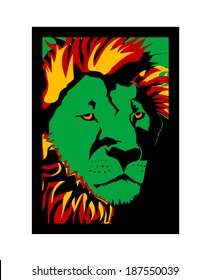 Lion of Zion Vector Framed