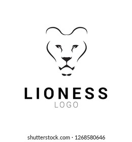 Lioness head logo template