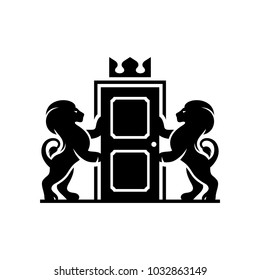 Lions coat of arms on a white background in vector EPS 8