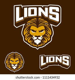 Lions logo sport