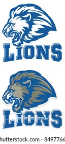 Lions Mascot. Perfect as any sport mascot logo.