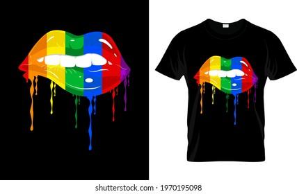 Lip Gay-LGBT T Shirt Design