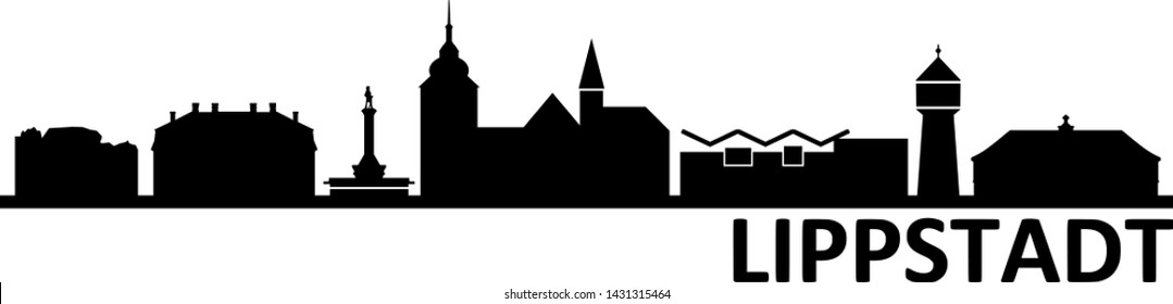 Lippstadt City Skyline Vector Silhouette