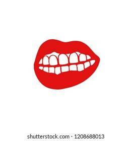 lips doodle illustration