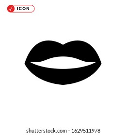 lips icon or logo isolated sign symbol vector illustration - high quality black style vector icons