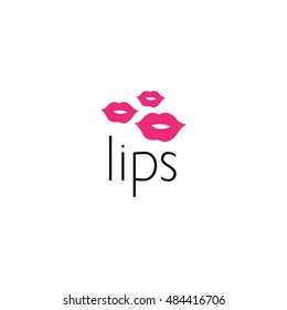 lips logo graphic design concept. Editable lips element, can be used as logotype, icon, template in web and print
