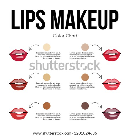 Lips Makeup Color Chart Your Skin Stock Vector Royalty Free