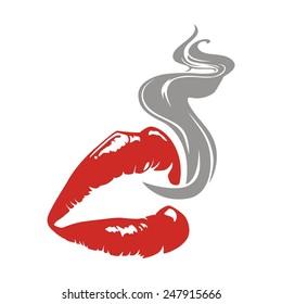 Lips Smoke Images Stock Photos Vectors Shutterstock