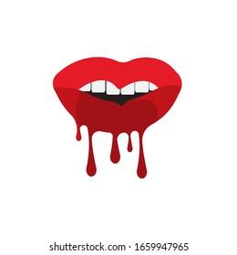 Lèvres d'une femme, illustration vectorielle