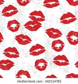 Lipstick Kiss Seamless Repeat Wallpaper