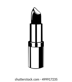 Lipstick. Lips. Beauty Industry Design Elements Vector Illustration