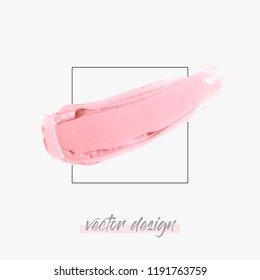 Lipstick texture stroke isolated on white background vector