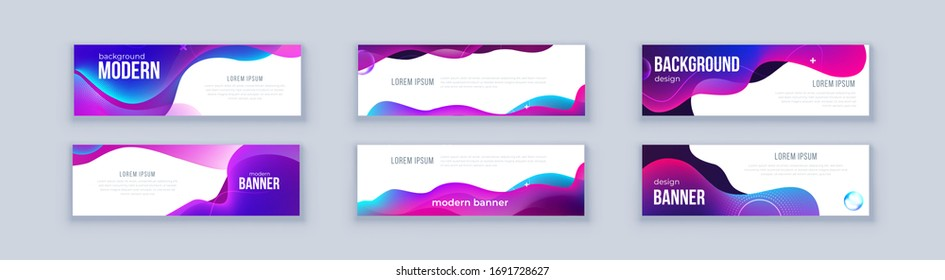Liquid abstract banner design. Fluid Vector shaped background. Modern Graphic Template Banner pattern for social media and web sites