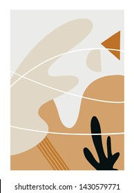 Liquid Abstract Shapes. Vector Modern Wall Art.