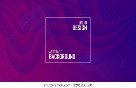 Liquid color abstract background design. Fluid vector gradient design for banner, post