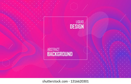 Liquid color abstract background design. Fluid vector gradient design for banner, post