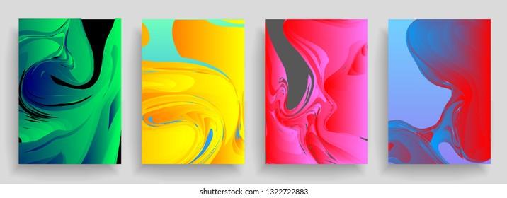 Liquid color background design