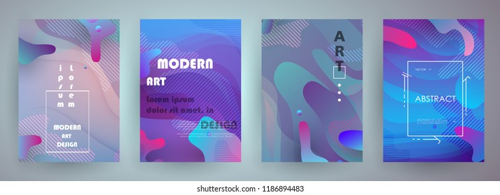 Liquid color background design. A4 format. Futuristic design posters