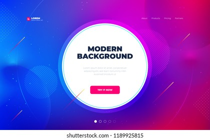 Liquid color background design with circle. Fluid gradient shapes composition. Futuristic design posters. Eps10 vector.