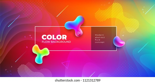 Liquid color background design. Fluid gradient shapes composition. Futuristic design posters. Eps10 vector.