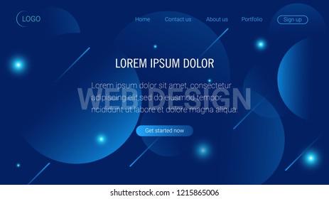 Liquid color background design. Landing page template. Header for website. High detailed isometric vector illustration. eps10