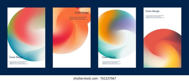 Liquid color covers set. Marble, flash, haze design. Fluid shapes composition. Futuristic design posters. Eps10 vector.