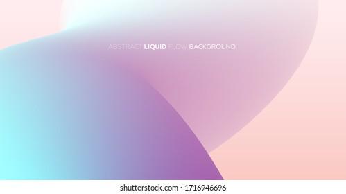 Liquid color shape for trendy flow minimalistic background composition. Eps10 vector illustration