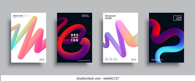 Liquid color shapes for composition backgrounds. Trendy abstract covers. Futuristic design posters. Eps10 vector.