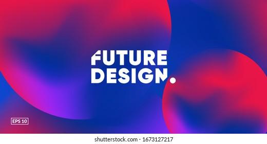 Liquid colorful background. Futuristic Gradient. Fluid gradient shapes composition. Eps10 vector.