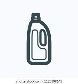Liquid detergent icon, fabric softener vector icon