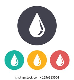liquid drop illustration. Water supply flat vector icon