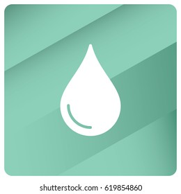 Liquid droplet web icon. Flat style for graphic and web design, Modern simple vector sign. Internet concept. Trendy symbol for website design web button, mobile app.
