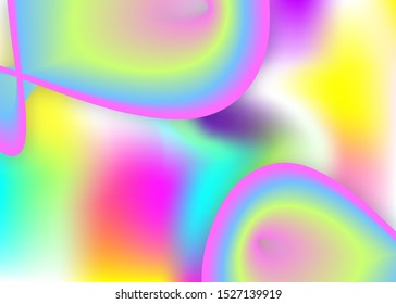 Liquid elements. Vivid gradient mesh. Holographic 3d backdrop with modern trendy blend. Minimalist magazine, banner design. Liquid elements background with dynamic shapes and fluid.