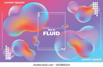 Liquid  flow Fluid colors autumn shapes  Applicable for gift card cover poster,  Poster on wall poster template,  landing page, ui, ux ,coverbook,  baner, social media posted