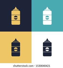 Liquid Glue Four Color Minimalist Icon Logo Set in Elegant Color