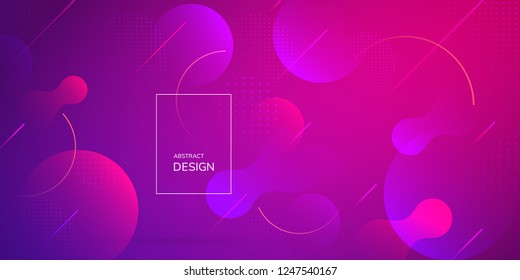 Liquid gradient shapes composition. Trendy fluid design. Abstract vector background.