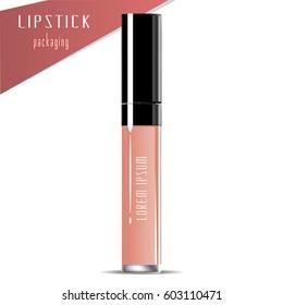 Liquid Lipstick. Vector Illustration.