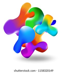 Liquid multi-colored background. Liquid form for color. Eps10 vector. Texture for sites, landings and background