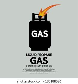 Liquid Propane Gas Vector Illustration