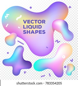 Liquid vector colorful shapes. Abstract vector object on transparent background. Stock vector. Liquid ink