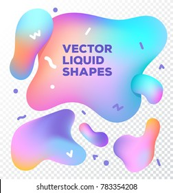 Liquid vector colorful shapes. Abstract vector object on transparent background. Stock vector. Liquid ink art design