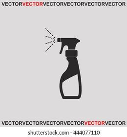 Liquid for washing window icon.