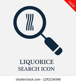 Liquorice search icon. Editable Liquorice search icon for web or mobile.